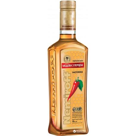 Vodka Nemiroff con miel y pimienta + 3 chup